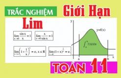 Toán 11 - Bài trắc nghiệm Giới hạn